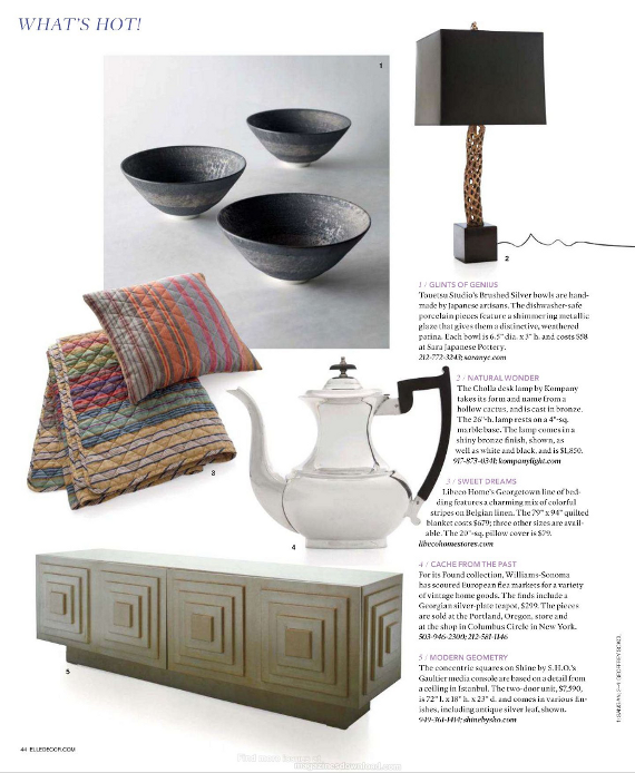 libeco georgetown in elle decor march 2012