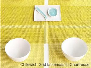 Chilewich Grid Tablemats in Chartreuse