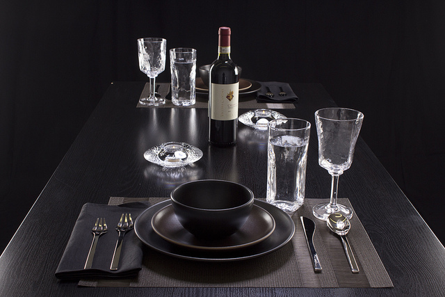 Weekly Table Setting: Glass on Black