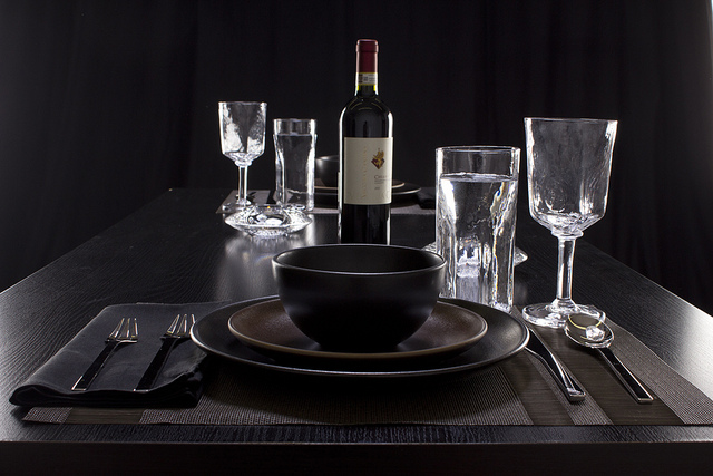 Weekly Table Setting Glass on Black & Weekly Table Setting: Glass on Black \u2014 Didriks