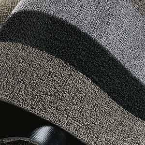 Chilewich 2 ' x 3 ' Plynyl Shag Utility Mat silver/black