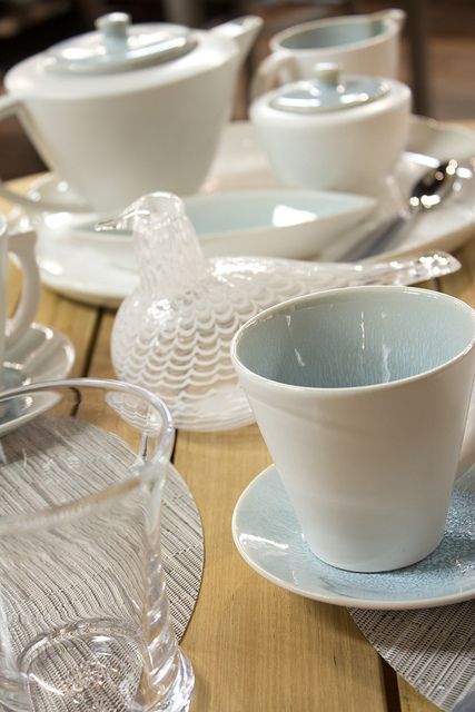 weekly Table Setting: Cool Hues