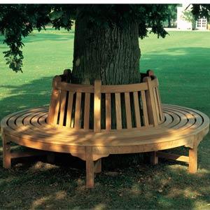 Barlow Tyrie Glenham Teak Circular Landscape Tree Seat