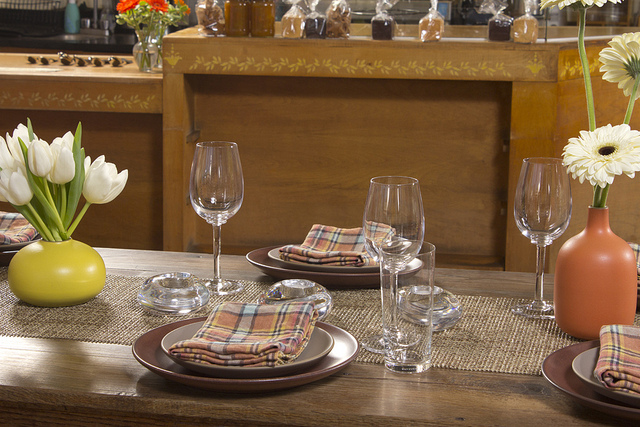 Table setting at Hi-Rise Bakery