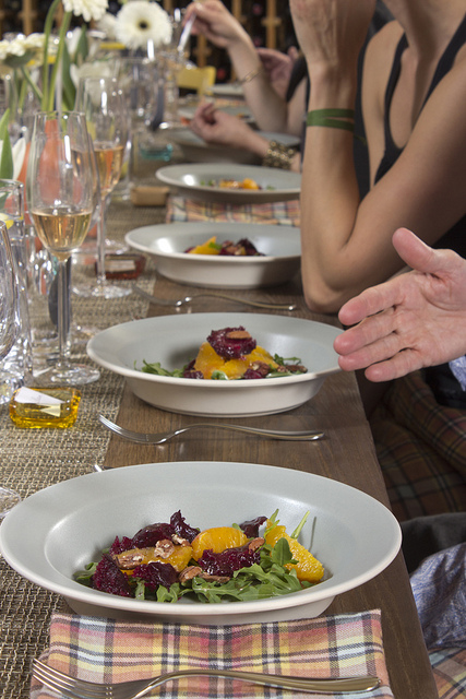 Orange and Beet Salad with Arugula