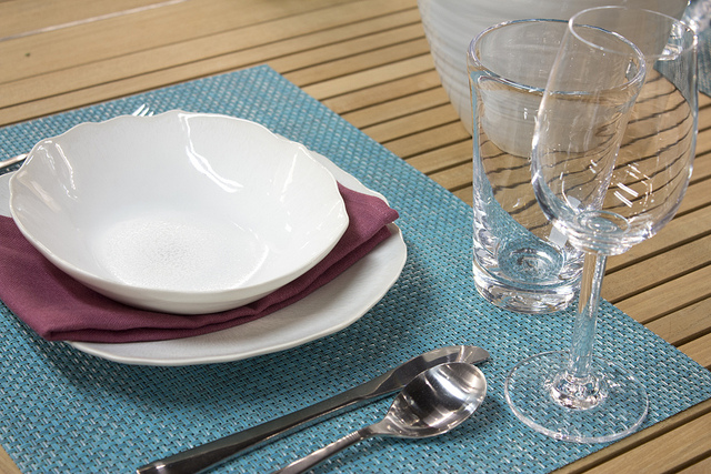 Weekly Table Setting: Sitting in a Blue Lagoon