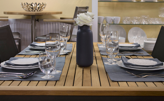 Weekly Table Setting: Cool Blue