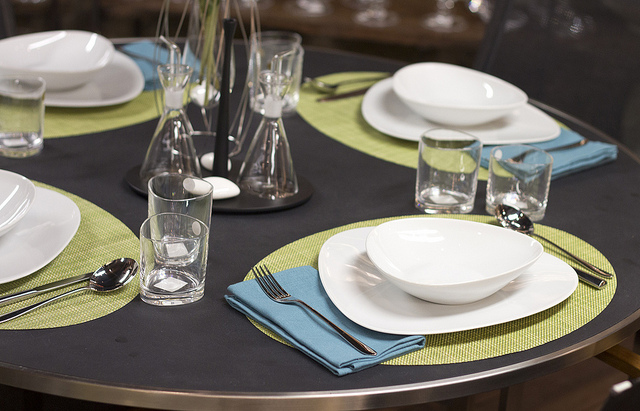 Affordable Weekly Table Setting The Arrival Of Summer With Placemats For  Round Tables.