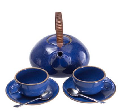 Didriks Heath Ceramics moonstone tea set