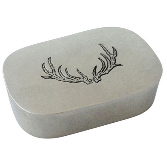 Match Pewter Simple Carved Antler Box
