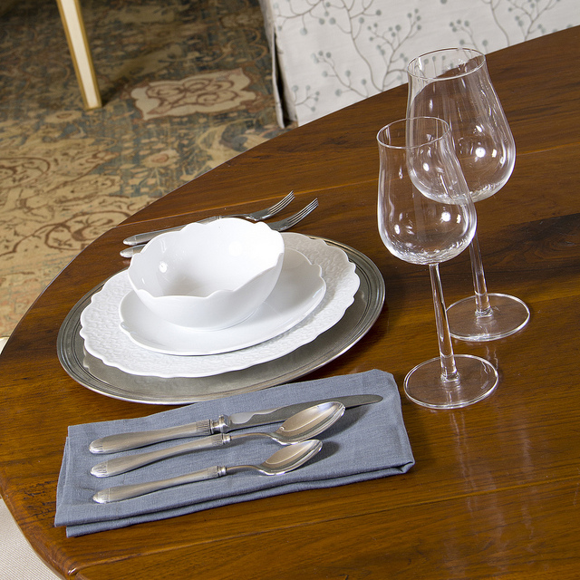 Dinnerware on the Design Home Dining Table