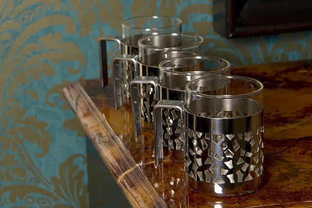 Alessi glass mugs