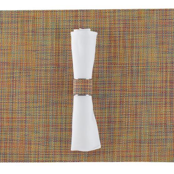 Chilewich Mini Basketweave Wide Napkin Ring, in Confetti