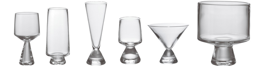 Geo stemware collection  from Simon Pearce