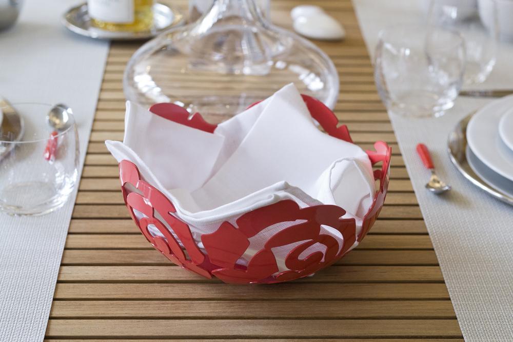 Alessi La Rosa Bowl in Red