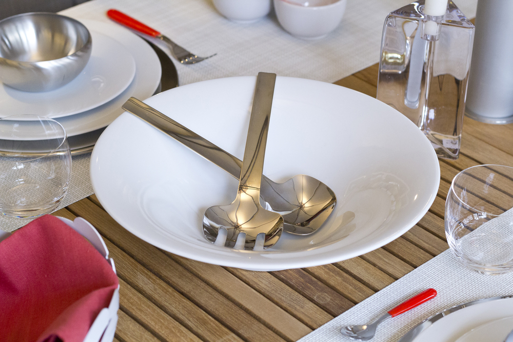 Alessi Ku Salad Bowl and Alessi Dressed Serving Pieces