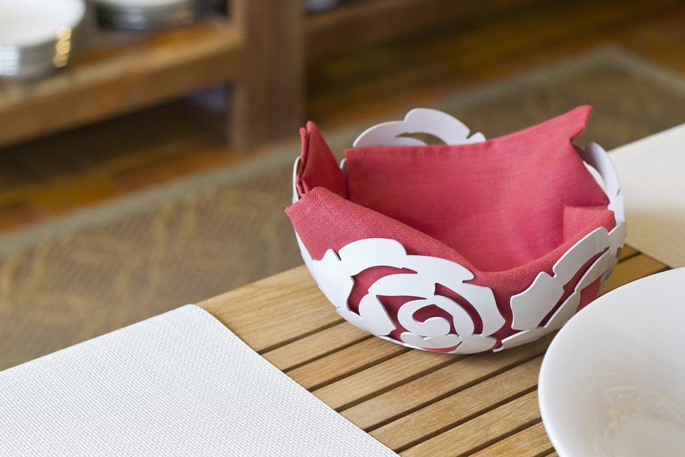 Alessi La Rosa Bowl in White