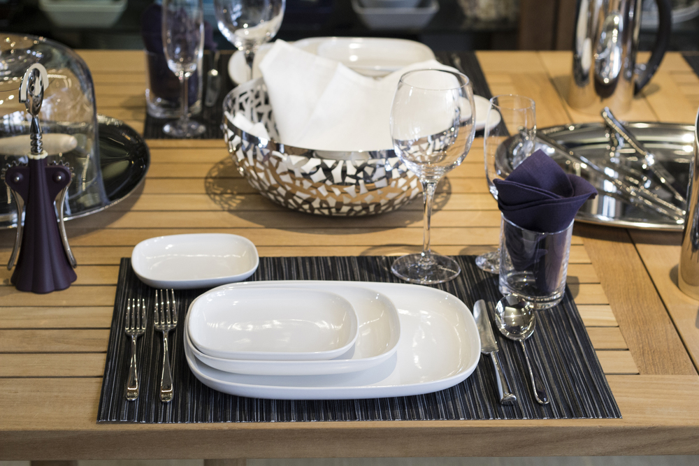 Alessi Ovale and Stainless Steel table setting