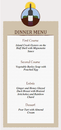 A Printable Menu Template For Your Next Dinner Party Didriks - Menu place cards template