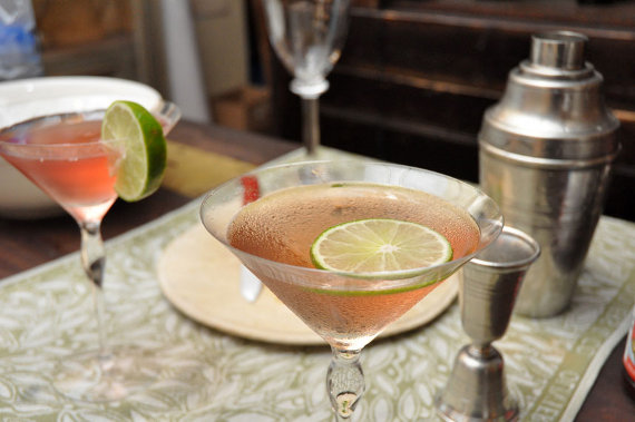 cosmopolitans served in Orrefors Balans martini glass