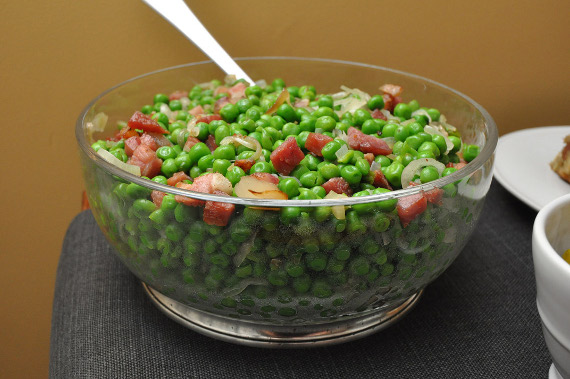 Peas with Shallots and Pancetta