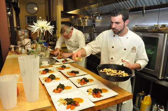 Season to Taste Chefs putting food on Pillivuyt Quartet Plates