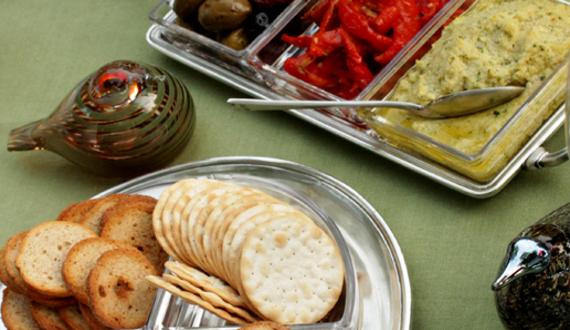 antipasti appetizers, Toikkas and wine