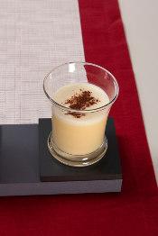 eggnog served in simon pearce norwich beaker