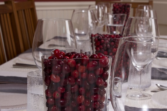 iittala aalto vase with cranberries