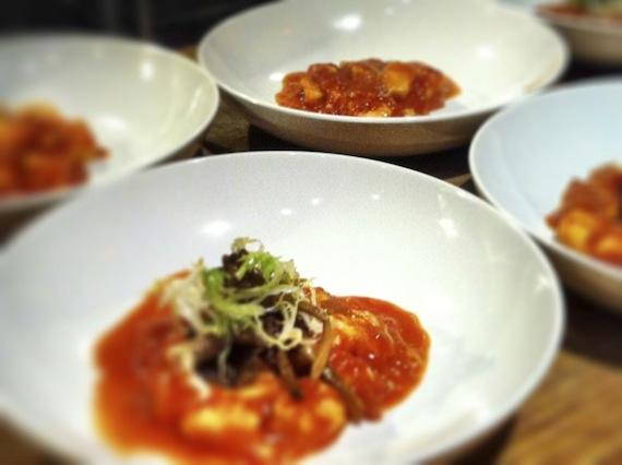 potato gnocchi in tomato sauce