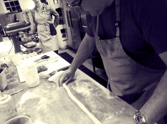rolling gnocci dough