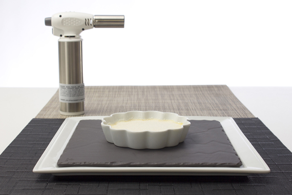 rosle kitchen torch and pillivuyt creme brulee ramekin