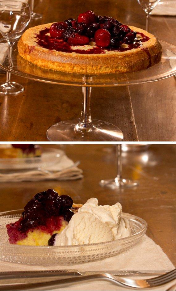 olive oil cake on kosta boda intermezzo cake plate