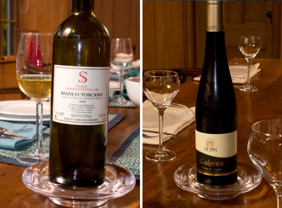 wine bottles with simon pearce hampton stemware