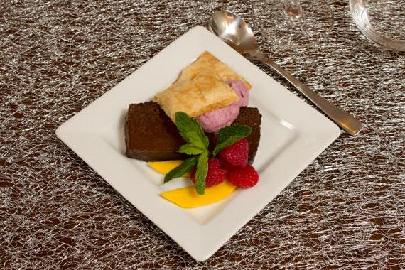 chocolate terrine on pillivuyt quartet plate