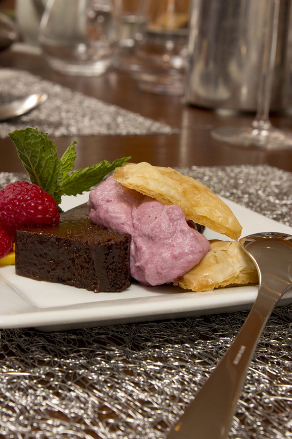chocolate terrine on pillivuyt quartet plate