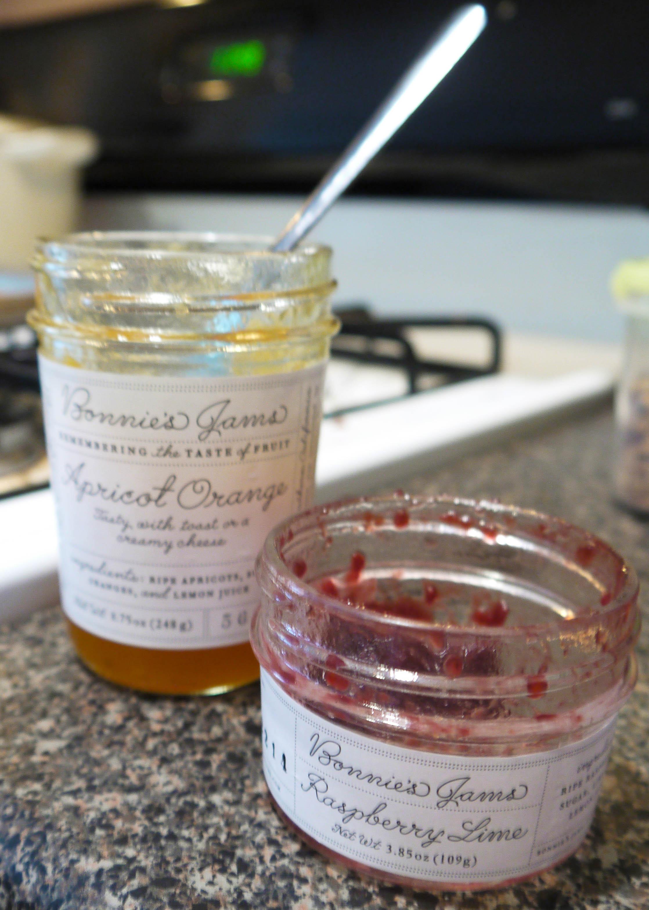 Empty Bonnie's Jams jars