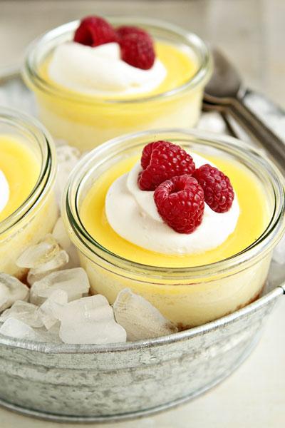 Individual Lemon Cheesecakes
