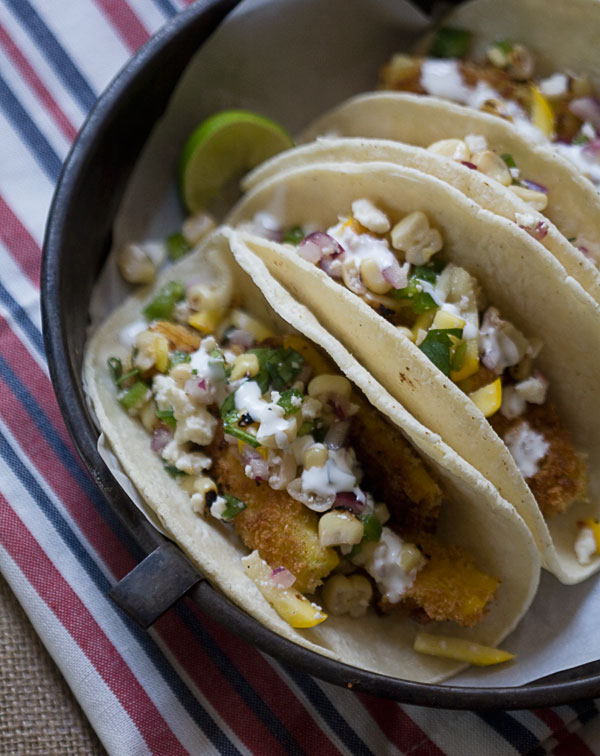 Fried Summer Squash Tacos