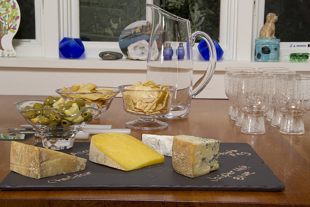 Revol Basalt Tray with Cheeses