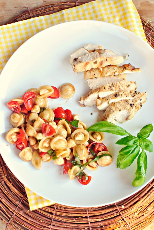 Lemon Chicken and Caprese Pasta Salad