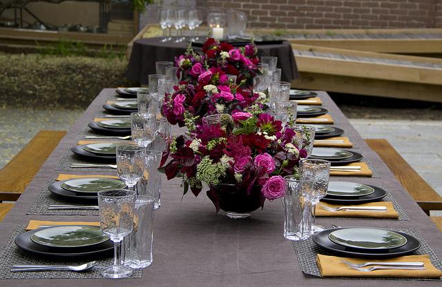 Dinner 27: Full table setting