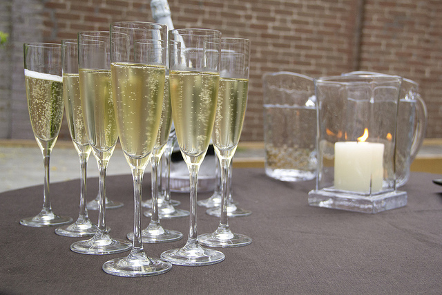 Champagne in Schott Zwiesel glasses