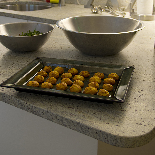 Gougeres on a Jars Ceramics tray
