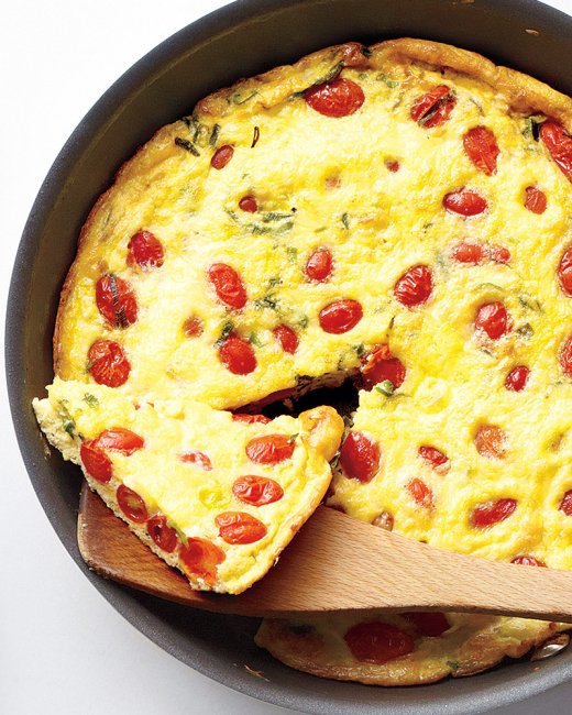 Tomato, Scallion and Cheddar Frittata