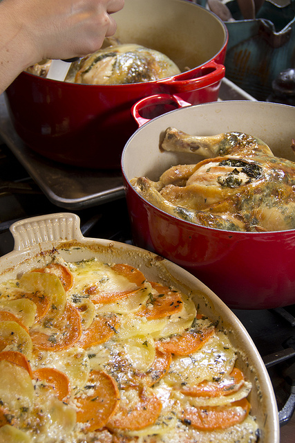 Le Creuset Au Gratin Dish and French Oven