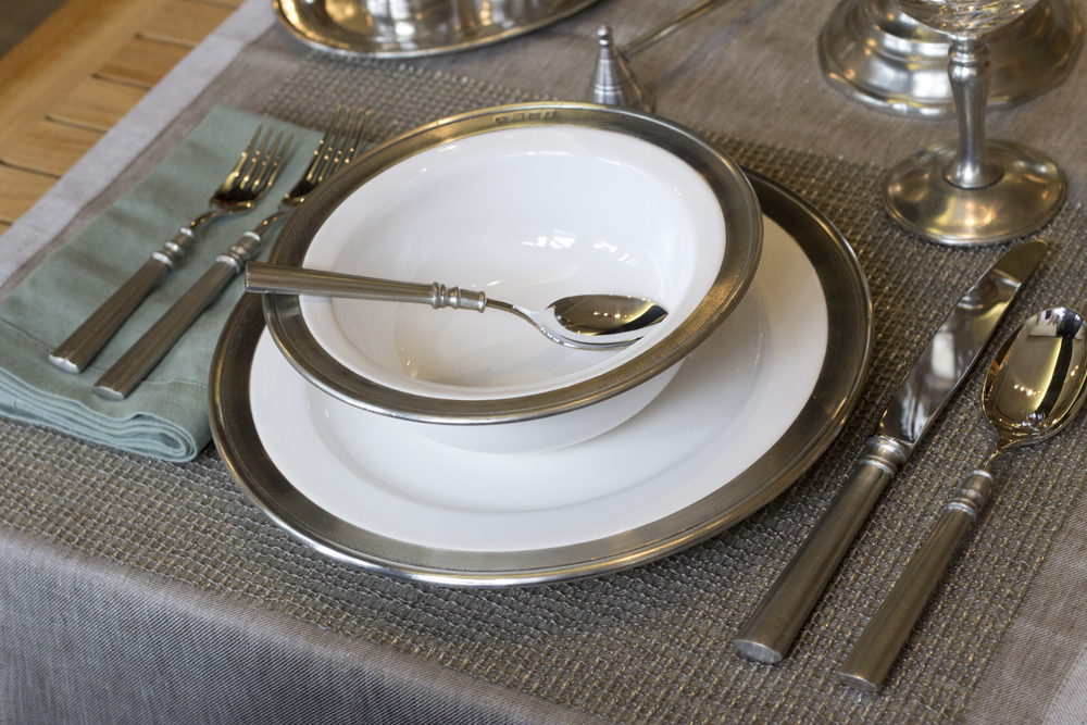 Match Pewter DInnerware and Flatware