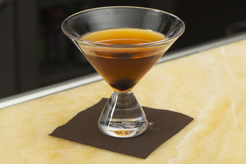 Simon Pearce Geo Glass with a Classic Manhattan