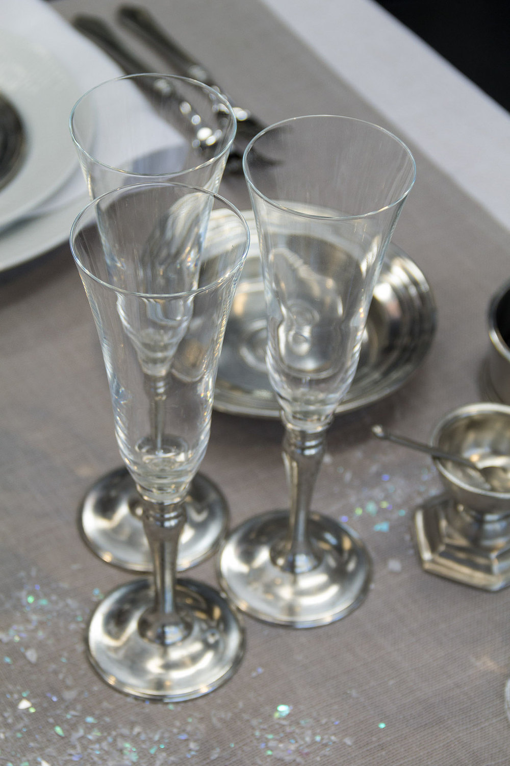 Match Pewter Empire Champagne glass
