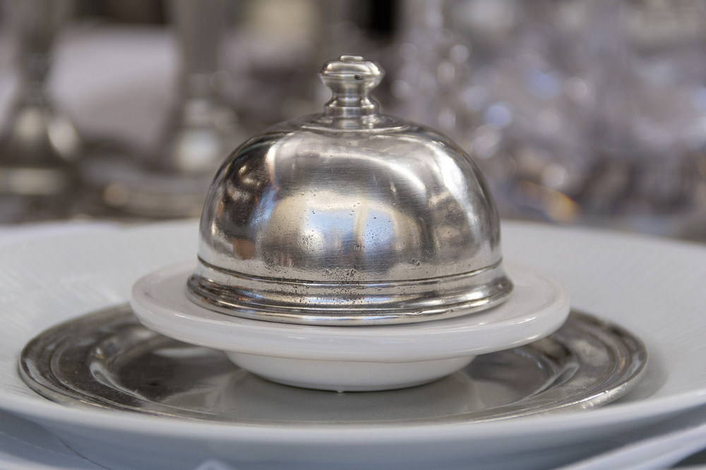 Match Pewter butter dome